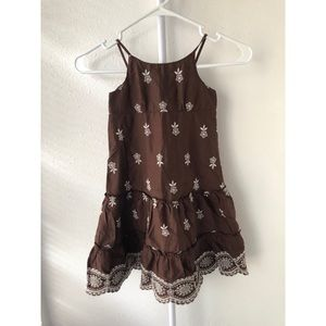 Baby Gap Brown and White Dress 4T